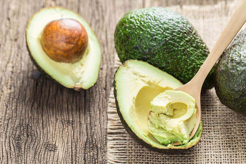 Avocado for a ketogenic diet meal plan and snacks