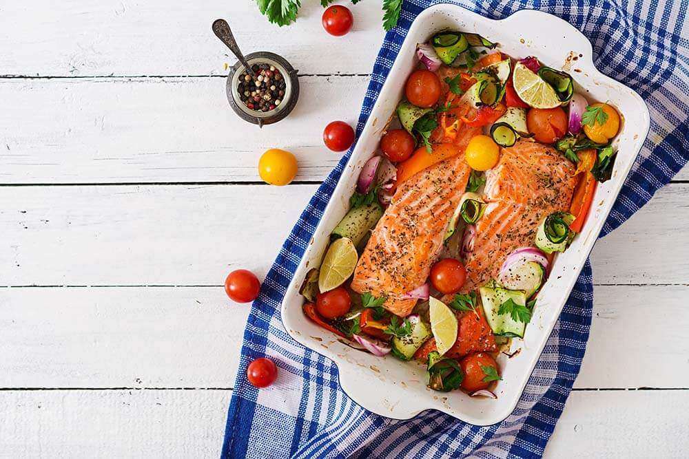 Low carb meal with Salmon
