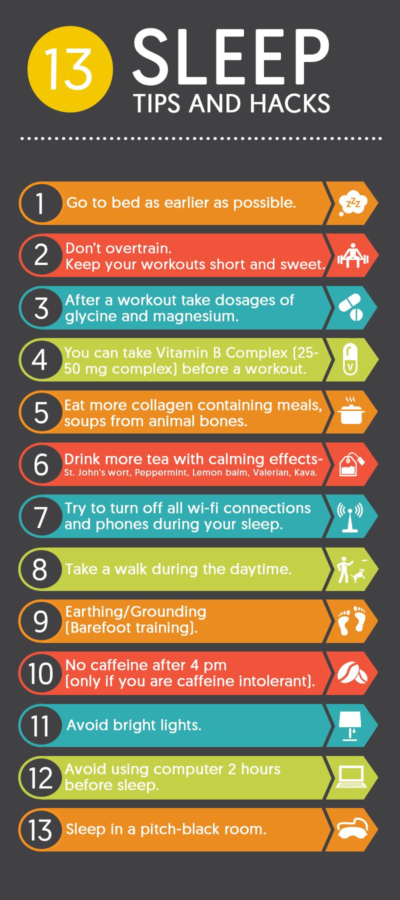 13 Sleep Tips and Hacks for You to Follow