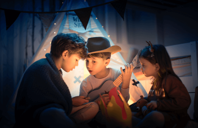 Mimmicking Campfire with Kids